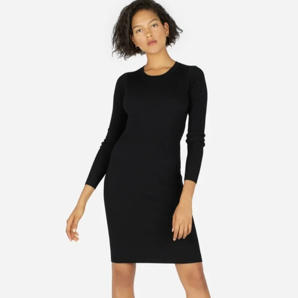 caa23f2a2ca Everlane Dresses   Skirts - Everlane The Luxe Wool Ribbed Long Sleeve Dress